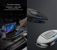 Автомобильный очиститель воздуха Twin Turbo с держателем для мобильного телефона